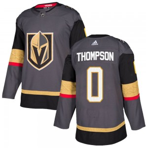 Adidas Logan Thompson Vegas Golden Knights Youth Authentic Gray Home Jersey - Gold