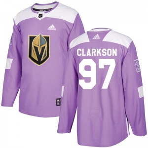 Adidas David Clarkson Vegas Golden Knights Youth Authentic Fights Cancer Practice Jersey - Purple