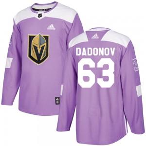 Adidas Evgenii Dadonov Vegas Golden Knights Youth Authentic Fights Cancer Practice Jersey - Purple