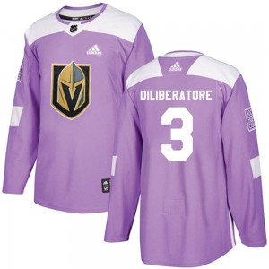 Adidas Peter DiLiberatore Vegas Golden Knights Youth Authentic Fights Cancer Practice Jersey - Purple