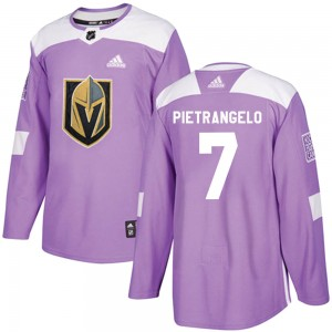 Adidas Alex Pietrangelo Vegas Golden Knights Youth Authentic Fights Cancer Practice Jersey - Purple