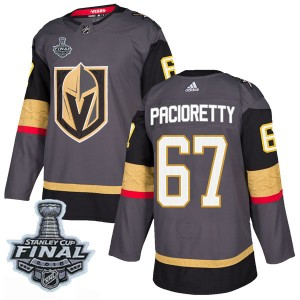 Adidas Max Pacioretty Vegas Golden Knights Men's Authentic Gray Home 2018 Stanley Cup Final Patch Jersey - Gold