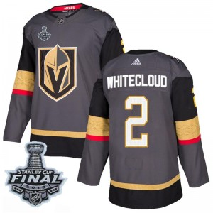 Adidas Zach Whitecloud Vegas Golden Knights Men's Authentic Gray Home 2018 Stanley Cup Final Patch Jersey - Gold