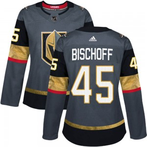 Adidas Jake Bischoff Vegas Golden Knights Women's Authentic Gray Home Jersey - Gold