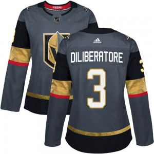 Adidas Peter DiLiberatore Vegas Golden Knights Women's Authentic Gray Home Jersey - Gold