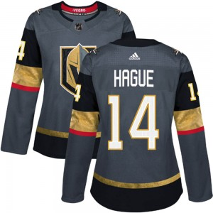 Adidas Nicolas Hague Vegas Golden Knights Women's Authentic Gray Home Jersey - Gold