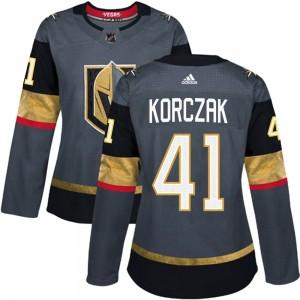 Adidas Kaedan Korczak Vegas Golden Knights Women's Authentic Gray Home Jersey - Gold