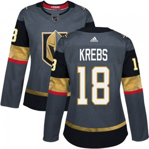 Adidas Peyton Krebs Vegas Golden Knights Women's Authentic ized Gray Home Jersey - Gold