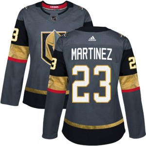 Adidas Alec Martinez Vegas Golden Knights Women's Authentic ized Gray Home Jersey - Gold