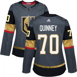 Adidas Gage Quinney Vegas Golden Knights Women's Authentic Gray Home Jersey - Gold