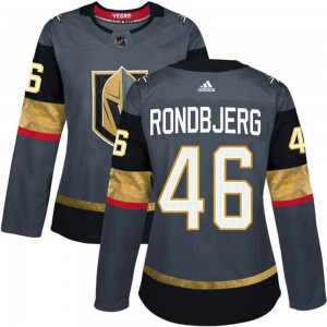 Adidas Jonas Rondbjerg Vegas Golden Knights Women's Authentic Gray Home Jersey - Gold