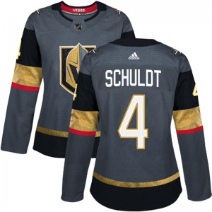 Adidas Jimmy Schuldt Vegas Golden Knights Women's Authentic Gray Home Jersey - Gold