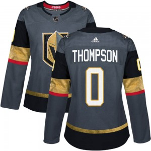 Adidas Logan Thompson Vegas Golden Knights Women's Authentic Gray Home Jersey - Gold