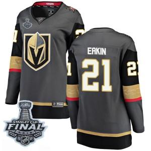 Fanatics Branded Cody Eakin Vegas Golden Knights Women's Breakaway Black Home 2018 Stanley Cup Final Patch Jersey - Gold