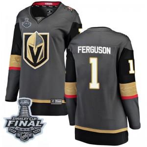 Fanatics Branded Dylan Ferguson Vegas Golden Knights Women's Breakaway Black Home 2018 Stanley Cup Final Patch Jersey - Gold