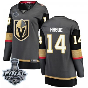 Fanatics Branded Nicolas Hague Vegas Golden Knights Women's Breakaway Black Home 2018 Stanley Cup Final Patch Jersey - Gold