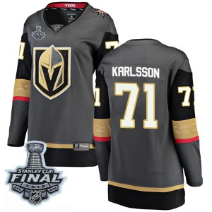 Fanatics Branded William Karlsson Vegas Golden Knights Women's Breakaway Black Home 2018 Stanley Cup Final Patch Jersey - Gold