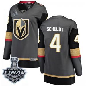 Fanatics Branded Jimmy Schuldt Vegas Golden Knights Women's Breakaway Black Home 2018 Stanley Cup Final Patch Jersey - Gold