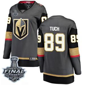 Fanatics Branded Alex Tuch Vegas Golden Knights Women's Breakaway Black Home 2018 Stanley Cup Final Patch Jersey - Gold