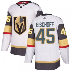 Adidas Jake Bischoff Vegas Golden Knights Men's Authentic White Away Jersey - Gold