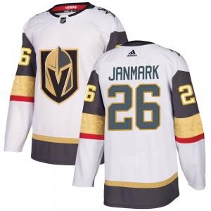 Adidas Mattias Janmark Vegas Golden Knights Men's Authentic White Away Jersey - Gold