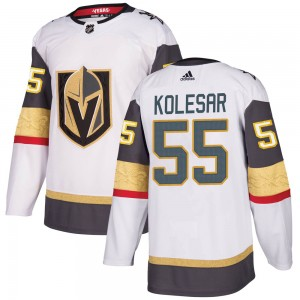 Adidas Keegan Kolesar Vegas Golden Knights Men's Authentic ized White Away Jersey - Gold