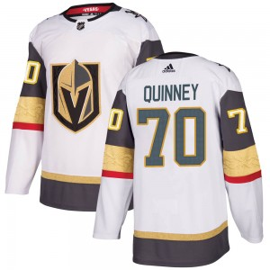 Adidas Gage Quinney Vegas Golden Knights Men's Authentic White Away Jersey - Gold