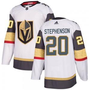 Adidas Chandler Stephenson Vegas Golden Knights Men's Authentic White Away Jersey - Gold