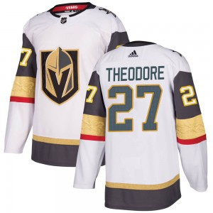 Adidas Shea Theodore Vegas Golden Knights Men's Authentic White Away Jersey - Gold
