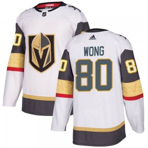 Adidas Tyler Wong Vegas Golden Knights Men's Authentic White Away Jersey - Gold