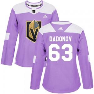 Adidas Evgenii Dadonov Vegas Golden Knights Women's Authentic Fights Cancer Practice Jersey - Purple