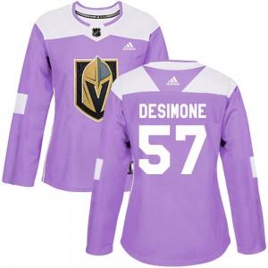 Adidas Nick DeSimone Vegas Golden Knights Women's Authentic Fights Cancer Practice Jersey - Purple