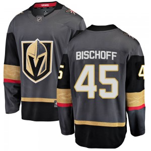 Fanatics Branded Jake Bischoff Vegas Golden Knights Men's Breakaway Black Home Jersey - Gold