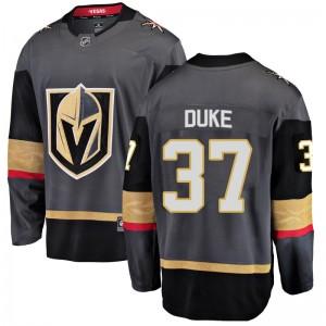 Fanatics Branded Reid Duke Vegas Golden Knights Men's Breakaway Black Home Jersey - Gold