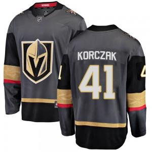 Fanatics Branded Kaedan Korczak Vegas Golden Knights Men's Breakaway Black Home Jersey - Gold