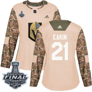 Adidas Cody Eakin Vegas Golden Knights Women's Authentic Camo Veterans Day Practice 2018 Stanley Cup Final Patch Jersey - Gold