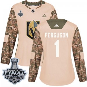 Adidas Dylan Ferguson Vegas Golden Knights Women's Authentic Camo Veterans Day Practice 2018 Stanley Cup Final Patch Jersey - Go