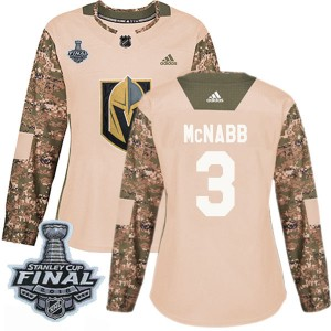 Adidas Brayden McNabb Vegas Golden Knights Women's Authentic Camo Veterans Day Practice 2018 Stanley Cup Final Patch Jersey - Go