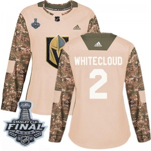 Adidas Zach Whitecloud Vegas Golden Knights Women's Authentic Camo Veterans Day Practice 2018 Stanley Cup Final Patch Jersey - G