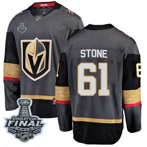 Fanatics Branded Mark Stone Vegas Golden Knights Youth Breakaway Black Home 2018 Stanley Cup Final Patch Jersey - Gold