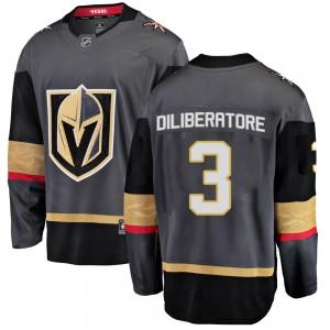 Fanatics Branded Peter DiLiberatore Vegas Golden Knights Youth Breakaway Black Home Jersey - Gold