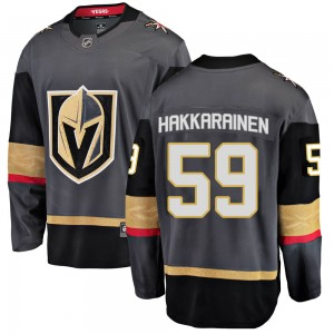Fanatics Branded Mikael Hakkarainen Vegas Golden Knights Youth Breakaway Black Home Jersey - Gold
