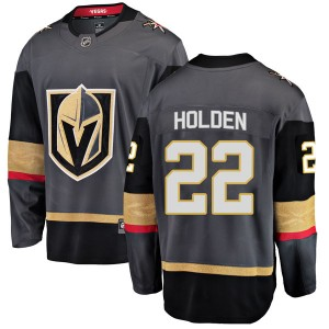 Fanatics Branded Nick Holden Vegas Golden Knights Youth Breakaway Black Home Jersey - Gold