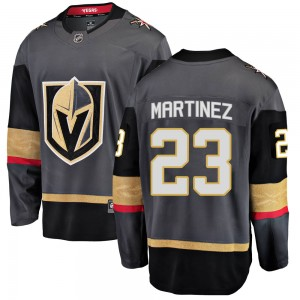 Fanatics Branded Alec Martinez Vegas Golden Knights Youth ized Breakaway Black Home Jersey - Gold