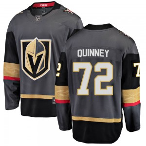 Fanatics Branded Gage Quinney Vegas Golden Knights Youth ized Breakaway Black Home Jersey - Gold