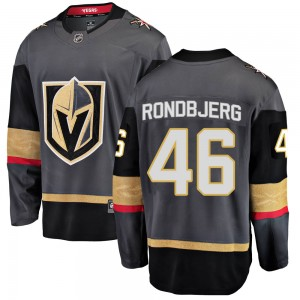 Fanatics Branded Jonas Rondbjerg Vegas Golden Knights Youth Breakaway Black Home Jersey - Gold