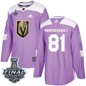 Adidas Jonathan Marchessault Vegas Golden Knights Youth Authentic Fights Cancer Practice 2018 Stanley Cup Final Patch Jersey - P