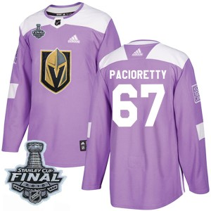 Adidas Max Pacioretty Vegas Golden Knights Youth Authentic Fights Cancer Practice 2018 Stanley Cup Final Patch Jersey - Purple