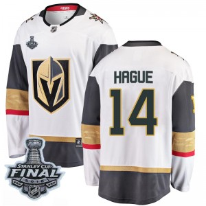 Fanatics Branded Nicolas Hague Vegas Golden Knights Youth Breakaway White Away 2018 Stanley Cup Final Patch Jersey - Gold