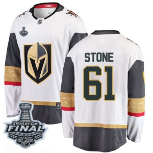 Fanatics Branded Mark Stone Vegas Golden Knights Youth Breakaway White Away 2018 Stanley Cup Final Patch Jersey - Gold